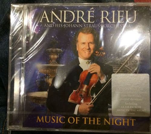 Andre Rieu And His Johann Straus Orchestra<br>Music Of The Night<br>CD + DVD + um